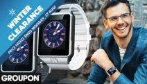 Stay Connected on the Go w/ the Bluetooth Smart Watch w/ Camera! Ft. Phone Function, 2-Way Anti-Lost Protection, Reads Message or News & More