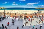 Get Your Skates On for the Unmissable Winter Festival! Outdoor Ice Skating Session w/ Skate Hire @ Iconic Bondi Beach or Parramatta Winterlight