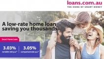 It's Time to Be Smart About Money with a Smart Home Loan from loans.com.au! Low-Rate Home Loan Saving You Thousands with No Monthly or On-Going Fees!