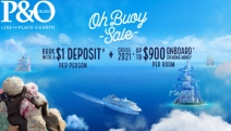 Book Your Dream Cruise w/ P&O Cruises! $1 Deposit PP + Onboard Spending Money of Up to $450 for Cruises Dep. 2020 or Up to $900 for Cruises Dep. 2021