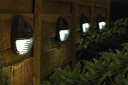 Light Up Fences & Paths w/ Solar-Powered LED Fence Lights! Wire-Free for Easy Installation w/ Automatic Power at Dusk & Dawn. Upgrade for 2-4 Rounds