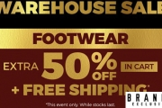 A Gal Can Never Have Enough Shoes Right! Don't Miss this Warehouse Footwear Sale w/ an Extra 50% Off Items in Cart! Shop Boots, Heels, Sandals & More