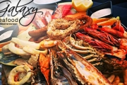Feast on Your Seafood Favourites at Galaxy Seafood and Mediterranean! Enjoy Seafood Platter for Two w/ King Prawns, Grilled Octopus, Mussels & More