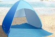 Save Yourself from Sunburn & Cool Down w/ this Handy Pop-Up Tent! Perfect for the Beach. Lightweight, Easy to Carry & Made w/ UV Protection Fabric