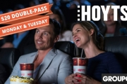 Have a Blockbuster Start to the Week with a HOYTS Movie Double Pass for Just $20! Valid Mondays & Tuesdays at 400 Cinema Screens Nationwide