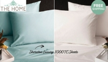 Make Sleep Time a Luxurious Sanctuary w/ these Sheraton 1000TC Luxury Cotton Sheets! Range of On-Trend Colours Incl. Shadow Grey, Storm Blue & More