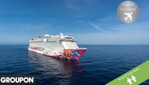 SINGAPORE w/ FLIGHTS 5N Cruise on a Genting Dream Ship + a 1N Stay in Studio Loft @ 4* Studio M Hotel. Cruise Incl. Meals on 4 Restaurants & More
