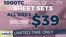 Get the 5-Star Treatment for Less w/ Hotel Quality 1000TC Sheet Sets All $39 from Daniel Brighton! Feather Soft & Luxurious Feel in a Range of Colours