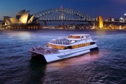 Take in the Views of the City Skyline with a 3-Hr Sydney Harbour Cruise! Enjoy Buffet Lunch or Dinner, Polynesian Dance Show & DJ. Dep. King St Wharf