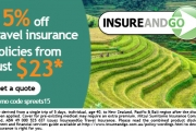 Wander the World Safely w/ 15% Off Travel Insurance w/ Australia's Specialist InsureandGo! Only for Spreets Members. Hurry Up - Ltd Time Offer!