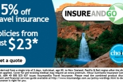 15% Off Travel Insurance at InsureandGo! Includes Unlimited Overseas Medical Cover, Kids Go FREE w/ Mum or Dad, 24-Hr Emergency Assistance & More