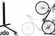 Turn Empty Space into Bike Storage w/ this Super Nifty Bike Nook Storage Stand! Upright & Floor-Level Design. Adjustable to Wide Range of Heights