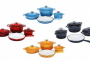 Cook Up a Storm with the Xanten 7-Pc Cast Iron Cookware Set! Oven & Dishwasher-Safe + Excellent Heat Retention. Suitable for Most Types of Cookers