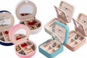 Going Away on a Trip? Keep Your Jewellery Safe & Organised w/ Mini Travel Jewellery Case Organiser! Ft. Multiple Compartments with Mirror in 3 Colours