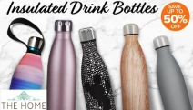 Get Your Hands on Up to 50% Off this Range of Insulated Drink Bottles! Shop Water Bottles, Thermos, Travel Tumblers & More from Gourmet Kitchen & More