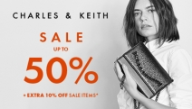 Shop Up to 50% Off Your Favourite CHARLES & KEITH Accessories + Extra 10% Off Sale Items with Min. 2 Items Purchased. Free Shipping with Min. Spend