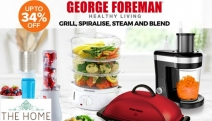 Cooking Nutritious Meals has Never Been Easier w/ George Foreman Appliances! Shop Up to 34% Off the Veggie Spiraliser, Food Steamer, Blender & More