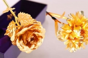 Give Flowers that Will Last a Lifetime w/ a Stunning, Handcrafted 24K Gold-Plated Rose or Carnation from $19! Plus P&H. Perfect Gift Idea