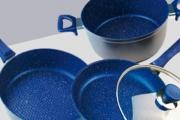 Enjoy Healthier Meals & Easy Clean Up w/ This 4-Piece BlueStone Non-Stick Cookware Set! Ft. Latest European Design w/ Multi-Layer Construction