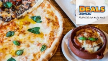 Enjoy a Slice of Italy w/ a 3-Course Dinner for 2 at Spakka Napoli, Neutral Bay! Incl. Shared Entree, Epic 52cm New York Style Pizza, Dessert & Wine