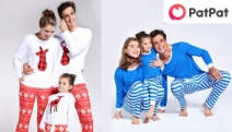 Shop these Adorable Matching Family Pyjamas from PatPat! Range of Cool Themes & Designs Incl. Hooded Jammies in Polka Dots, Foxy Red Stripes & More