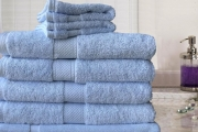 Dress Up Your Bathroom w/ the 7-Piece 100% Egyptian Cotton Extra Large Bath Sheet Set! Ft. Hand Towels, Face Washers & More in 600-GSM. Range of Colours