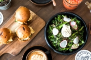 Take on a Unique Dining Experience w/ 'The Classy Bender' Dual Dinner & Breakfast Package @ Contact Bar & Kitchen! Shared Plates, Wine, Coffee & More
