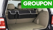 Keep Your Car Tidy w/ a Car Back Seat Storage Bag! Water Resistant Fabric w/ 4 Compartments. Helps Organise Maps, Tools & Other Essentials