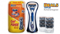 For the Smoothest Shave Shop these Gillette Fusion Razor Value Packs! Incl. 1-Manual Razor + 6-Cartridges in this Revolutionary Shaving System