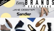 Ladies, Put Your Best Foot Forward w/ this Sandler, Jane Debster & Easy Steps Footwear Sale! Shop Ankle Boots, Heels & More in On-Trend Colours