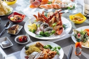 Dive in to Igg International Buffet & Bar for an All-You-Can-Eat Seafood Buffet! Stack Your Plate w/ Fresh Seafood, Sushi & More Plus Bottle of Wine!