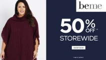 Feel Confident in Your Curves with the beme Plus Size Fashion Sale! Shop Fashion Forward Styles for All Occasions with 50% Off Storewide! T&Cs Apply