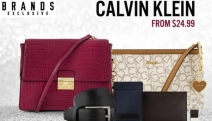 Luxe Accessories Don't Have to Break the Bank w/ the Calvin Klein Accessory Sale! Shop Items for Men & Women Incl. Wallets, Bags, Belts & More