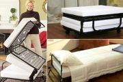 Don't Get Caught Out By Surprise Guests w/ a Folding Ottoman - Transforms Easily into a Single Sofa Bed! Choose from Three Slip Cover Colours