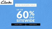 Step Out in Comfort & Style with the Mid Season Sale from Clarks! Shop Up to 60% Off Sitewide Ft. Flats, Sandals, Boots, Heels & More for Men & Women