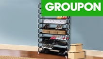 Show Off Your Impressive Shoe Collection w/ this 10-Tier Stackable Shoe Rack! Ft. Non-Slip Shelves that are Fully Adjustable & Sturdy Steel Tubes
