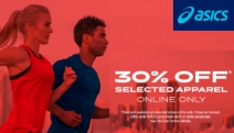 Functionality Meets Fashion with ASICS 30% Off Selected Apparel! Stay Active in Style with Capri Tights, Running Shorts, Tokyo Tanks & More
