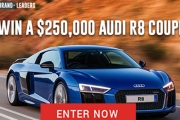 Enter Now for Your Chance to Win an Audi R8 Plus Cash Valued at $250,000! Enter Now & Receive 10 Entries into the Draw! It's Completely Free to Enter