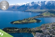 QUEENSTOWN, NZ w/ FLIGHTS Think Panoramic Mountain & Lake Vistas w/ 5 Nights at a 5* Mystery Hotel! Ft. Wi-Fi, Parking, Downtown Shuttle & More