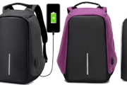 Keep Your Stuff Safe w/ an Anti-Theft, Water Resistant Backpack! Ft. Hidden Zips & Tough Outer Fabric for Greater Security. Upgrade to Incl. Powerbank