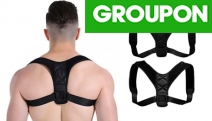 Work on Your Posture w/ a Neoprene Adjustable Back Posture Support Brace! Helps Train Muscles to Return to Natural Alignment. Discreet Design