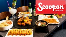 Dine on Delectable Korean Cuisine w/ $60 to Spend on Food & Drinks @ Basax Korean Chicken & Dining! Ft. Roasted Chicken, Crumbed Pork Cutlets & More
