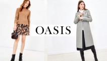 Ease into the Colder Months in Fashion-Forward Styles with Oasis! Take Up to 30% Off Select Styles Incl. Coats, Knit Jumpers, Dresses, Boots & More