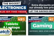 Let the Savings Begin w/ the Biggest Electronics Sale of the Year at Catch! Extra Discounts on Low Prices! Headphones, Laptops, Gaming, Cameras & More