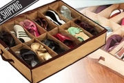 Keep Your Shoes Organised w/ a Convenient Under Bed Shoe Storage Box! Save Space & Protect Shoes From Dust. Clear Cover Makes Finding Shoes a Breeze