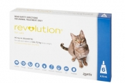 Keep Your Purrrfect Friend Healthy w/ a 6 or 12-Pack of Revolution Parasiticide for Cats! Kills Fleas & Gives Systemic Treatment Against Other Parasites